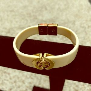 Tory Burch lacquered gold bracelt